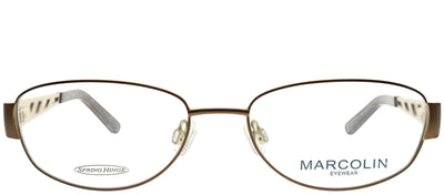 Marcolin MA 7329DAWN 050 Rectangle Metal Bronze Eyeglasses with Demo Lens