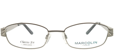 Marcolin MA 7310SOFIA 008 Rectangle Metal Silver Eyeglasses with Demo Lens