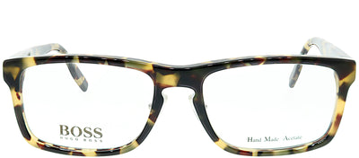 Hugo Boss BOSS 0463 SR3 Rectangle Plastic Tortoise/ Havana Eyeglasses with Demo Lens