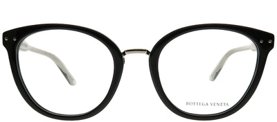 Bottega Veneta BV 0195O 001 Cat-Eye Plastic Black Eyeglasses with Demo Lens