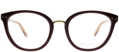 Bottega Veneta BV 0195O 004 Cat-Eye Plastic Burgundy/ Red Eyeglasses with Demo Lens