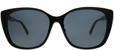 Bottega Veneta BV 0218SK 001 Cat-Eye Plastic Black Sunglasses with Grey Lens