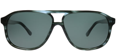 Chesterfield CH 04S 0JBW Aviator Plastic Blue Sunglasses with Grey Polarized Lens