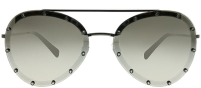 Valentino VA 2013 30056G Aviator Metal Ruthenium/ Gunmetal Sunglasses with Silver Mirror Lens