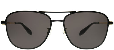 Alexander McQueen AM 0187SK 001 Navigator Metal Black Sunglasses with Grey Lens