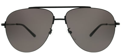 Balenciaga BB 0013S 001 Aviator Metal Black Sunglasses with Grey Lens