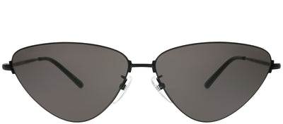 Balenciaga BB 0015S 001 Cat Eye Metal Black Sunglasses with Grey Lens