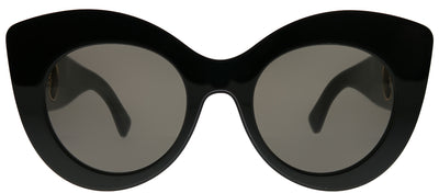Fendi FF 0306 807 IR Cat-Eye Plastic Black Sunglasses with Grey Blue Lens