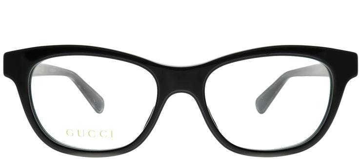 Gucci GG 0372O 001 Rectangle Plastic Black Eyeglasses with Demo Lens