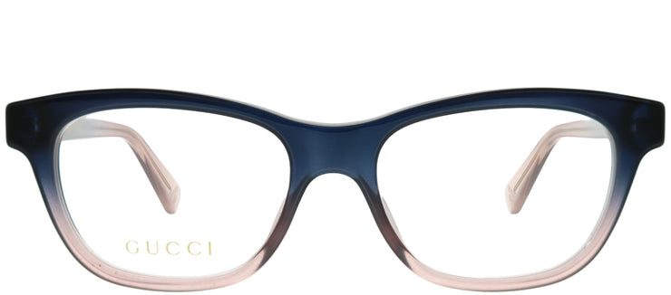 Gucci GG 0372O 004 Rectangle Plastic Blue Eyeglasses with Demo Lens