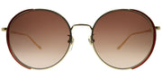 Gucci GG 0401SK 002 Round Metal Gold Sunglasses with Brown Gradient Lens