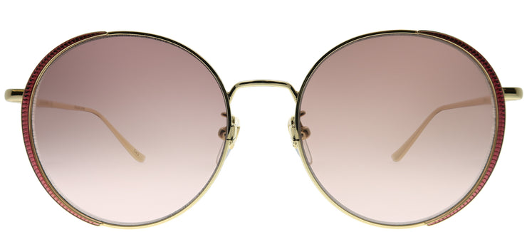 Gucci GG 0401SK 004 Round Metal Gold Sunglasses with Brown Gradient Lens