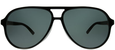 Gucci GG 0423SA 001 Aviator Plastic Black Sunglasses with Grey Lens