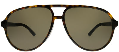 Gucci GG 0423SA 002 Aviator Plastic Tortoise/ Havana Sunglasses with Brown Lens