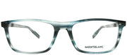 Montblanc MB 0021O 004 Rectangle Plastic Blue Eyeglasses with Demo Lens