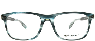 Montblanc MB 0035O 002 Rectangular Plastic Blue Eyeglasses with Demo Lens