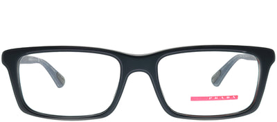 Prada Linea Rossa PS 02CV 392101 Rectangle Metal Blue Eyeglasses with Demo Lens