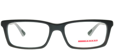 Prada Linea Rossa PS 02CV 4AL101 Rectangle Metal Black Eyeglasses with Demo Lens