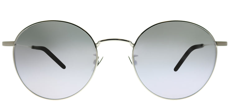 Saint Laurent SL 250 003 Round Metal Silver Sunglasses with Silver Mirror Lens