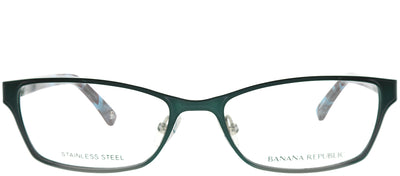 Banana Republic BP Rianna FC6 Rectangle Metal Green Eyeglasses with Demo Lens