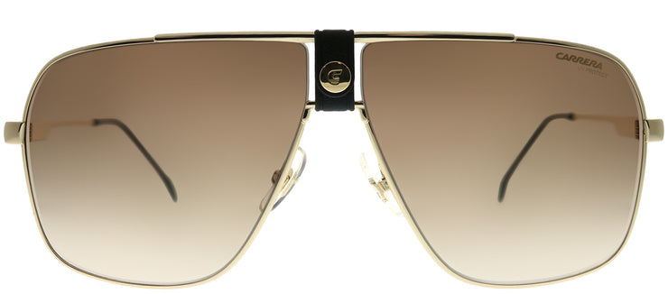 Carrera CA Carrera1018 J5G HA Aviator Metal Gold Sunglasses with Brown Gradient Lens