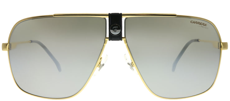 Carrera CA Carrera1018 RHL T4 Aviator Metal Gold Sunglasses with Silver Mirror Lens