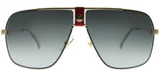 Carrera CA Carrera1018 Y11 9O Aviator Metal Gold Sunglasses with Grey Gradient Lens