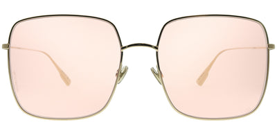 Dior CD Stellaire1 J5G JW Square Metal Gold Sunglasses with Pink Lens