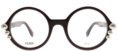Fendi FF 0298 0T7 Round Plastic Purple Eyeglasses with Demo Lens