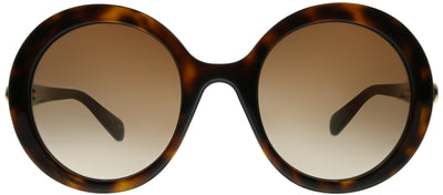 Gucci GG 0367S 002 Round Plastic Brown Sunglasses with Brown Gradient Lens