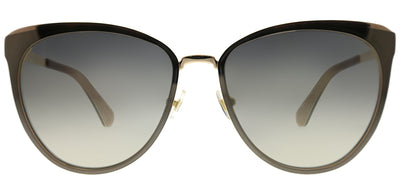 Kate Spade KS Jabrea 06J FQ Cat-Eye Metal Brown Sunglasses with Brown Gradient Lens