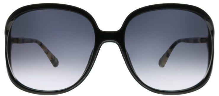 Kate Spade KS Mackenna 807 9O Round Plastic Black Sunglasses with Grey Gradient Lens