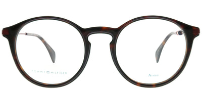 Tommy Hilfiger TH 1471 086 Round Plastic Brown Eyeglasses with Demo Lens