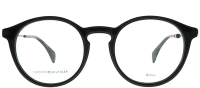 Tommy Hilfiger TH 1471 807 Round Plastic Black Eyeglasses with Demo Lens