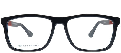 Tommy Hilfiger TH 1561 PJP Rectangle Plastic Blue Eyeglasses with Demo Lens