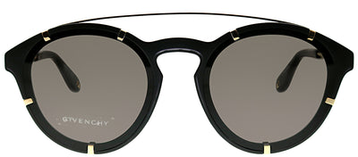 Givenchy GV 7088 2M2 Oval Plastic Gold Sunglasses with Blue Lens