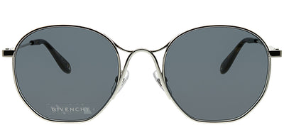 Givenchy GV 7093 010 Oval Metal Silver Sunglasses with Grey Lens