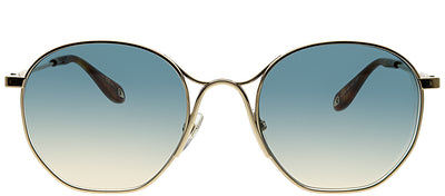 Givenchy GV 7093 J5G Oval Metal Gold Sunglasses with Blue Gradient Lens