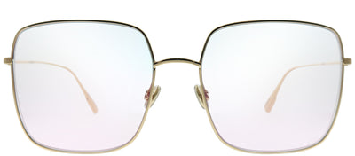 Dior CD Stellaire1 000 TE Square Metal Gold Sunglasses with Violet Lens
