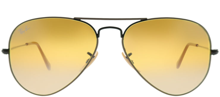 Ray-Ban RB 3025 9153AG Aviator Metal Beige Sunglasses with Brown Gradient Mirror Lens