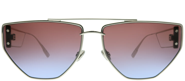 Dior CD DiorClan2 010 YB Aviator Metal Silver Sunglasses with Purple Gradient Lens