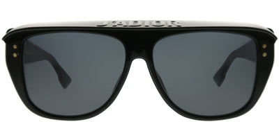 Dior CD DiorClub2 807 IR Rectangle Plastic Black Sunglasses with Grey Lens