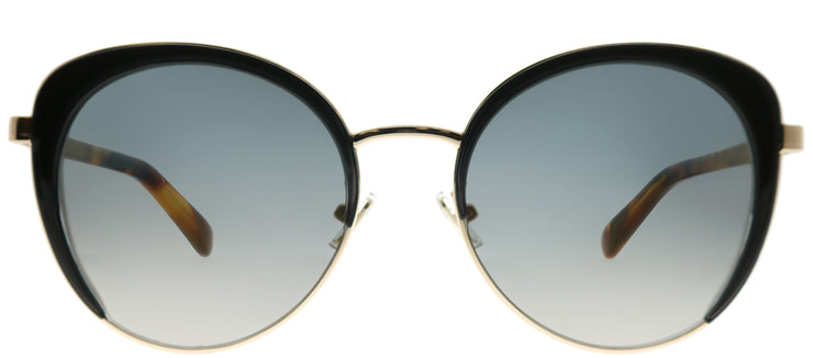 Jimmy Choo JC Gabby 2M2 FQ Round Metal Black Sunglasses with Gold Lens