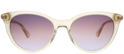 Kate Spade KS Janalynn 2T3 QR Cat-Eye Plastic Brown Sunglasses with Purple Gradient Lens