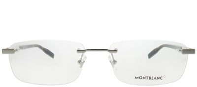 Montblanc MB 0023O 005 Rimless Metal Silver Eyeglasses with Demo Lens