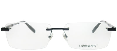Montblanc MB 0030O 004 Rimless Metal Black Eyeglasses with Demo Lens