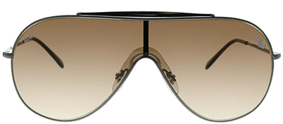 Ray-Ban RB 3597 004/13 Shield Metal Ruthenium/ Gunmetal Sunglasses with Brown Gradient Lens