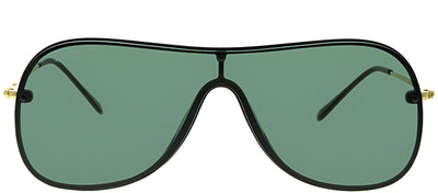 Ray-Ban RB 4311N 601/71 Shield Plastic Black Sunglasses with Green Lens