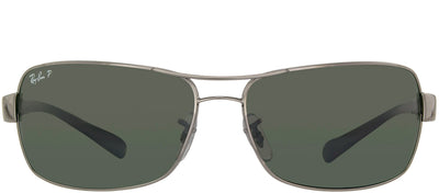 Ray-Ban Active Life RB 3379 004/58 Sport Metal Ruthenium/ Gunmetal Sunglasses with Green Polarized Lens