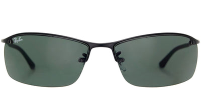Ray-Ban RB 3183 006/71 Sport Metal Black Sunglasses with Green Lens